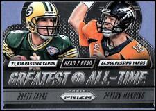 2014 Prizm Head to Head GOAT Card #5 Brett Favre Peyton Manning Packers Broncos