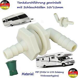 🌴🌻 Tankdurchführung Tankanschluss gewinkelt 10/12 mm ähnl. Lilie Trinkw.geeig.