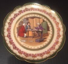 """Victor Venner Imperial Crown China Austria Plate """"Legal Advice"""" 7 3/4"""" Gold Trim"""