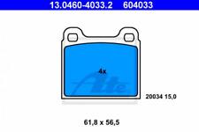 Bremsbelagsatz, Scheibenbremse für Bremsanlage Hinterachse ATE 13.0460-4033.2