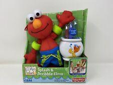 Bath Time Splash And Scribble Elmo Sesame Street Plush Muppets Fisher Price 2005