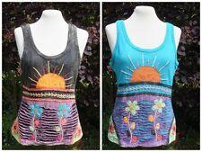 Ärmellose Damenblusen,-Tops & -Shirts im Trägertops-Stil mit Baumwolle für Business