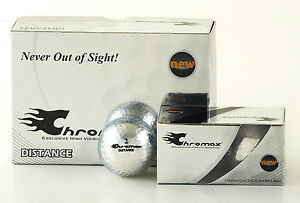 Chromax Metallic Coloured DISTANCE Golf Balls 6 Ball Pack - Can be Personalised