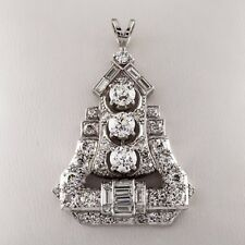 Platino 4.00 Quilate Colorless / vs Claridad Diamante Pagoda Colgante de Gota