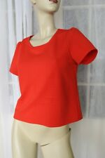 SIZE S DOTTI RED CROPPED ROUND NECK T-SHIRT TOP 🍡POST ANY 5 FREE