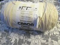 NEW CARON YARNSPIRATIONS ONE POUND Cream Off White Medium Yarn 453 g Acrylic