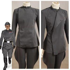 Star Wars Imperial Gray Uniform Intelligence Senior Officer Cosplay Costume //