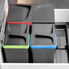 Cassetto PORTAOGGETTI Inserire Vassoio con riciclaggio cestini per rifiuti per 600mm ARMADIO Emuca