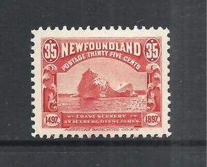 NEWFOUNDLAND SCOTT 73 MH VF - 1897 35c RED ICEBERG ISSUE   CAT $120.00