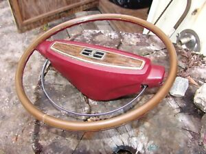 1968 Ford Mercury ORIGINAL DELUXE WOODGRAIN STEERING WHEEL w Shelby Cobra emblem