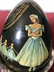Ballet Interest a Stunning Soviet/Russian Painted Egg With Ballerinas Decoration