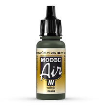 Vallejo Model Air: Olive Green - Acrylic Paint Bottle 17ml VAL71.265