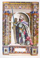1603 Johann Friedrich I. Sachsen Koloriertes Kupferstich-Porträt Custos Fontana