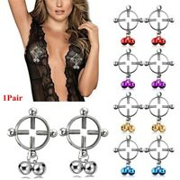 Surgical Steel Body Jewelry Non-Piercing  Fake Piercing Nipple Ring Shield