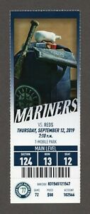 Kyle Lewis HR #3 1ST DOUBLE Seattle Mariners Reds 9/12/2019 Full Ticket 1977 STH