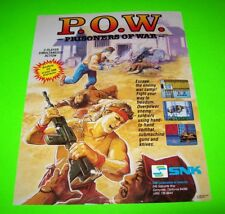 SNK POW PRISONERS OF WAR 1988 Original NOS Video Arcade Game Promo Sales Flyer