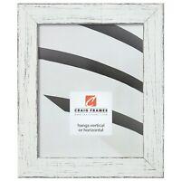 "Craig Frames Jasper, 1.5"" Distressed White Picture Frame Poster Frame"