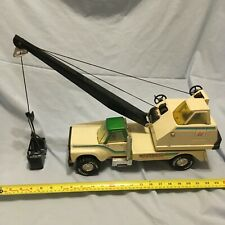 Vintage Nylint USA pressed steel bucket crane pick up truck lorry