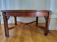 Vintage Lane Round Chippendale Chinoiserie Coffee Table