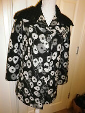 CLEMENTS RIBEIRO BOILED WOOL STYLE PATTERN JACKET SIZE SMALL UK 10 EXC CONDITION