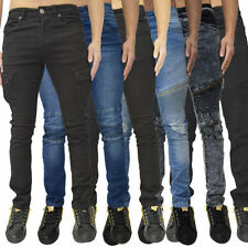 Ripped, Frayed Mid Rise Skinny, Slim Jeans for Men