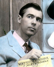"FRED ROGERS TV HOST MR. ROGERS' NEIGHBORHOOD 8x10"" HAND COLOR TINTED PHOTO"