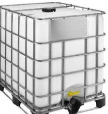 1000 LITRE RE BOTTLED IBC NEW BOTTLE + VALVE STEEL PALLET IN CAGE LIQUID WATER