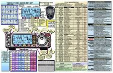 YAESU FT-100  FT-100D 2-SIDED SM AMATEUR HAM RADIO DATACHART GRAPHIC INFORMATION