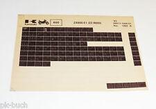 Microfich Ersatzteilkatalog Kawasaki ZZ - R 600 Modell 1993 Stand 12/1992