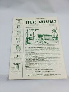 Vintage Texas Crystals Product Catalog Number 860 Fort Myers Florida