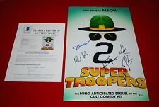 Broken Lizard cast signed 12X18 Beerfest Super Troopers 2 Beckett Letter COA