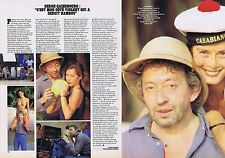COUPURE DE PRESSE CLIPPING 1983 SERGE GAINSBOURG - BAMBOU (2 pages)