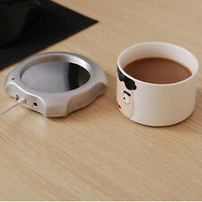 Hot Useful Desktop Tea Coffee Cup Mug Pad USB Warmer Heater Preservation Mat