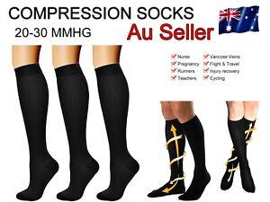 Compression Socks AU Medical Athletic Plantar Fasciitis Travel Comfort Wear