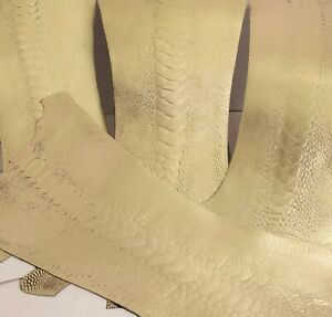 Ostrich Legs Skin Leather Gold Color G.A (%100 Genuine Ostrich Leather)