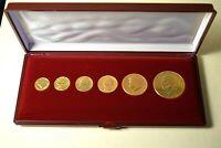 USA vergoldete Münzen 1941/1963/1965/1971/1976/1991 - Dollar bis Dime |274.1.55