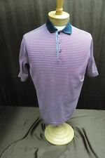 Paul & Shark Yachting Mens size L Short sleeve shirt purple white striped polo