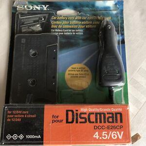 Sony Discman DCC-E26cp Car Battery / Cassette  Adaptor 4.5& 6v