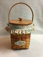 Longaberger (2001) Mother's Day Vintage Blossoms Basket with Lid