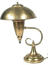STYLISH MID CENTURY MODERN BRASS MUSHROOM DOME TOP FLYING SAUCER DESK LAMP
