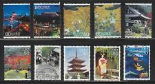 JAPAN 2008 (PREFECTURE) TRAVEL SCENERY SERIES NO. 2 KYOTO COMP. SET OF 10 STAMPS