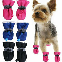 4Pcs Pet Windproof Warm Shoes Winter Anti-slip Boots Socks for Small Puppy Dog
