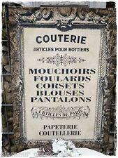 Bild Paris French Franske Canvas Keilrahmen Dekobild Vintage Shabby Küche
