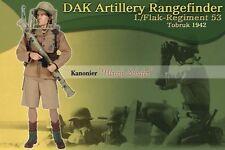 """Dragon 1/6 Scale 12"""" WWII German DAK Artillery Rangefinder Ulrich Schafer 70411"""