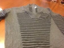 BCBG Generation Chic  Cozy Knit Charcoal Sweater Large New
