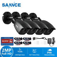 SANNCE 4pcs 1080P Outdoor Security Camera 2MP 3000TVL Home CCTV IR Night Vision