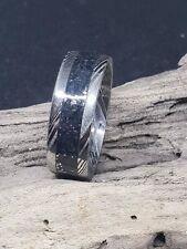 Handmade Damascus Star dust Glow Ring