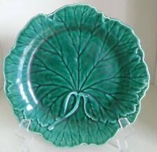 Pretty/Old Majolica WEDGWOOD Green Leaf Plate in Excellent Condition, #8