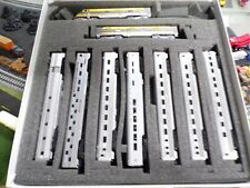 N Scale Seaboard Locos and passenger cars.