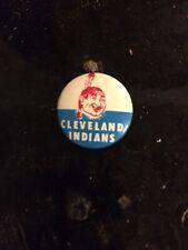 1960s Cleveland Indians Ohio Baseball 3/4 Inch Pin Pinback Guys Potato Chips.